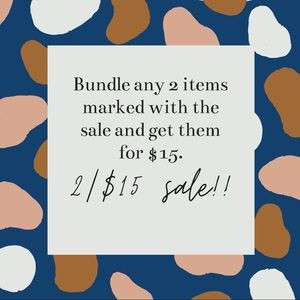 2/$15 sale- look for the sale in the listing title